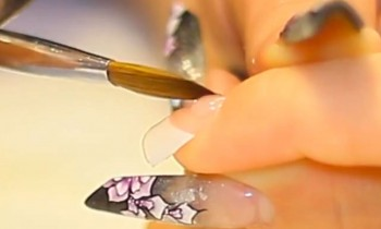 Acrylic Application on-to French White Nail Tips Tutorial Video by Naio Nails