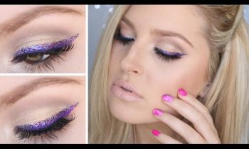 Chit Chat GRWM ♡ Purple Glitter Liner & Super Nude Lips!