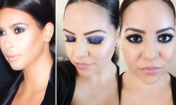 Tutorial ♥ Kim Kardashian Blue Smoky Eye ♥