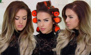 Big Glam Volume using Hot Rollers