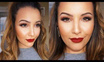 Copper Glitter & Burgundy Lips Tutorial