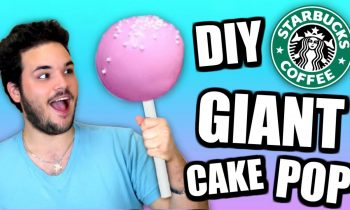 DIY Giant Starbucks Cake Pop! – How To Make Huge Birthday Cake Pops Tutorial