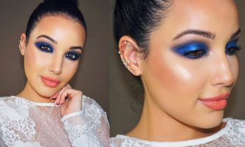 Editorial Blue Makeup Tutorial  | No False Lashes