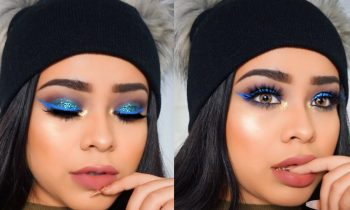 Glittery Blue Eyes & Liner | Kylie Holiday Palette + Lips Tutorial