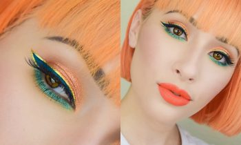 Golden Tangerine Fall Makeup Tutorial