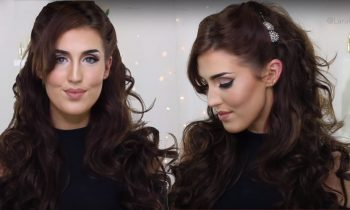 Half Up Romantic Curls Hairstyle