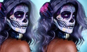 Halloween Look | Electric Paint Splatter Skelton