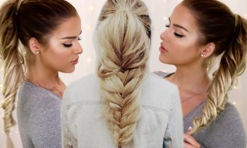 Loose Fishtail Ponytail