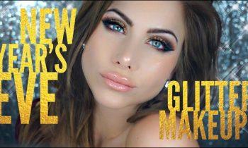 NYE glitter makeup tutorial | Bronze & Gold Glitter | BeeisforBeeauty