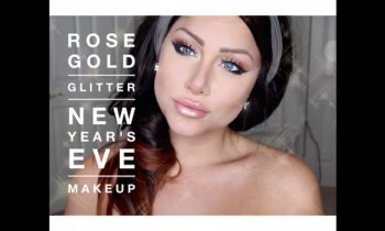 New Year's Eve makeup tutorial | rose gold glitter makeup | beeisforbeeauty