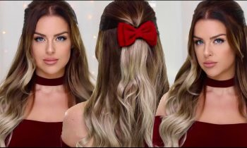 New-Years-Party-Hair-Half-Up-Bouncy-Waves-Hairstyle