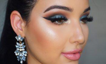 NikkieTutorials X TooFaced The Power of Makeup Tutorial    Teal with a Pop of Glitter