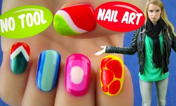 No Tool Nail Art! 5 Nail Art Designs & Ideas Without Any Nail Art Tools