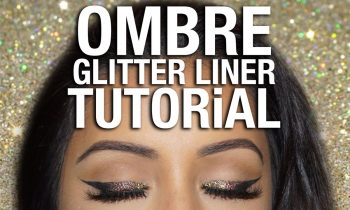 OMBRE Glitter Eyeliner Tutorial | Party Makeup Look 2016