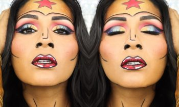 POP ART WONDER WOMAN HALLOWEEN MAKEUP | BEAUTYBYBMARIELA