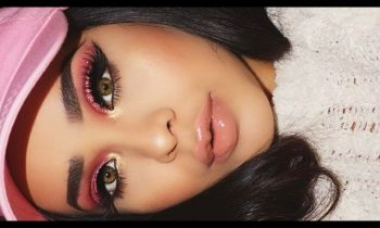 Pink Glitter & Gold Cut Crease | HudaBeauty Rose Gold Palette