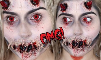Possessed Demon or Devil SFX! ♡ Halloween Makeup Tutorial