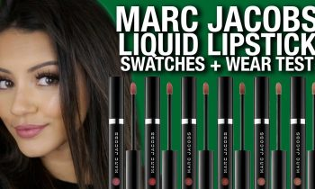 NEW MARC JACOBS LIQUID LIPSTICK 💄 SWATCHES + REVIEW
