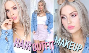 Get Ready With Me! SPRING EDITION ♡ Makeup, Outfit & Hair!