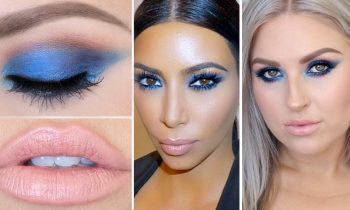 Kim Kardashian Inspired Blue Eyeshadow ♡ Celebrity Makeup Tutorial