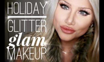 holiday glitter glam makeup tutorial