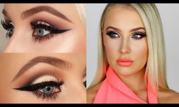 CUT CREASE & CORAL LIPS! | Lauren Curtis