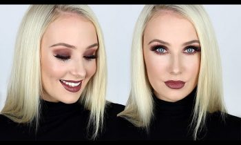 Dark, Smokey & Sparkly Eye and Lip Tutorial! | Lauren Curtis