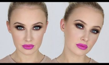 Intense Matte Smokey Eye + BRIGHT Matte Lips! | Lauren Curtis