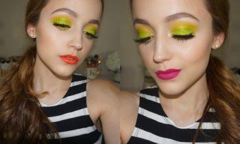 Lime Green Makeup Tutorial + 3 Lip Options!