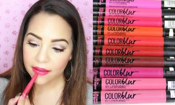 NEW Maybelline Color Blur Matte Lip Pencils ! First Impression & SWATCHES !