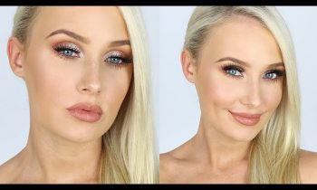 Smokey Nudes + Glitter Glam Tutorial! ONE BRAND | Lauren Curtis