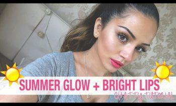 Talk Through Tutorial | Summer Glow + Bright Lips Makeup Look | Kaushal Beauty