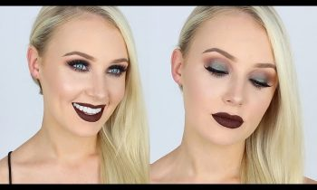 Ultra Smokey Green Eyes + Dark Chocolate Lips! | Lauren Curtis