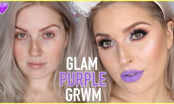 Chatty GRWM! 💜 Metallic Purple Smokey Eyes AND GLITTER! 🔥✨