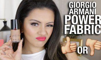Giorgio Armani FABRIC POWER FOUNDATION Review + 12HR wear test!!