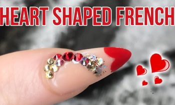 Acrylic Heart Shaped French Tip Inside A Dual Form – Step By Step Tutorial