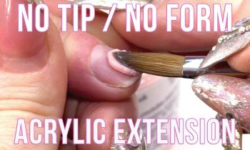 HOW TO EXTEND THE NAIL BED WITHOUT A FORM OR A TIP – NAIL HACK