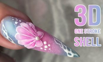 3D One Stroke Shell Nail