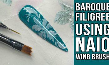 Wing Brush Baroque Filigree Design