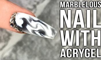 Marble Nails with AcryGel. It's So Marblelous!!!