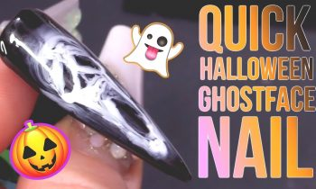 Quick Halloween Ghost Face Using Blooming Gel