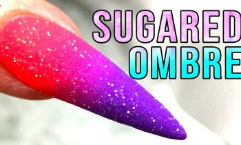 Vibrant Ombre with Transparent Glitter Sugaring – Wishing it was Springtime!